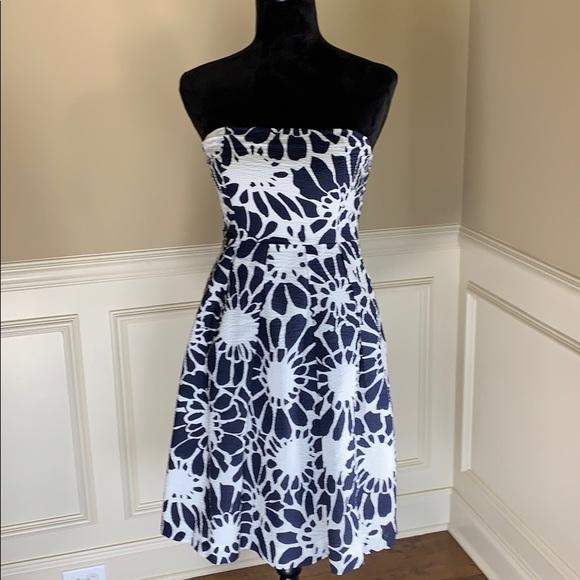 J. Crew Dresses & Skirts - J Crew 100% Cotton Patterned Fit & Flare Dress EUC